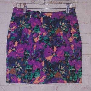 Silence + Noise Size 2 Multi Color Mini Skirt